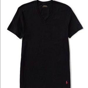 Polo Ralph Lauren black Vneck red logo